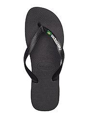 Havaianas - Hav Kids Brazil Logo - slipper - black/black 1069 - 8