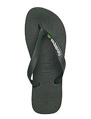 Havaianas - Hav Brazil Logo - slipper - green olive 4896 - 4