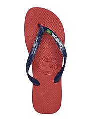 Havaianas - Hav Brazil Logo - slipper - red 1440 - 3
