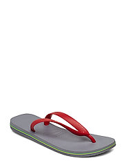 Hav Brazil Logo - STEE GREY/RED 8752