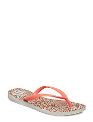 Hav Slim Animals - WHITE/CORAL NEW 6577