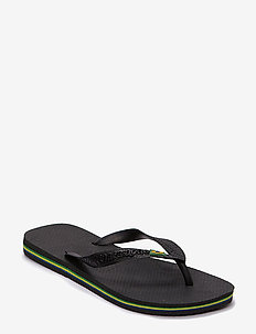 Brasil - teen slippers - black