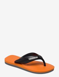 Max - flip flops & watershoes - grey/orange 0228