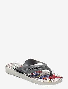 Hav Kids Max Heroes - flip flops & watershoes - white/steel gre 7852