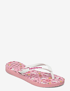 Slim Hello Kitty - klipklapper & badesko - macaron pink 5217