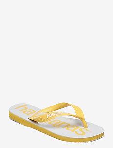Top Logomania 2 - varvassandaalit - gold yellow 0776