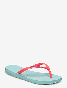 Hav Slim Logo - teenslippers - ice blue/coral 0274