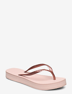Slim Flatform - teenslippers - ballet rose 0076