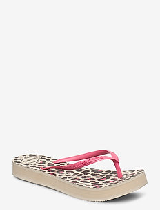 Hav Slim Flatform Animal - klip-klapper - beige 0121