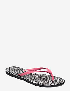 Slim Leopard - teenslippers - black 0090
