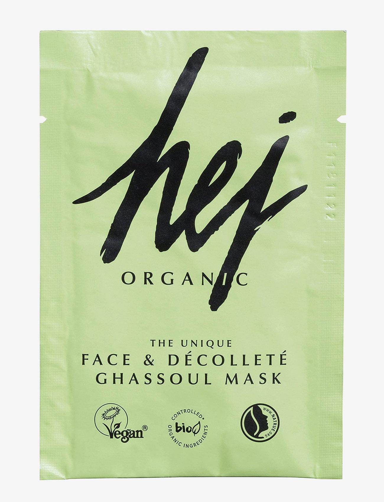 Hej Organic - FACE & BODY GHASSOUL MASK - sheet mask - no colour - 0