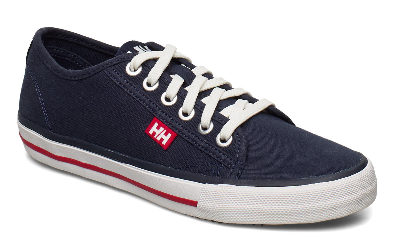 Helly Hansen W FJORD CANVAS SHOE V2 - NAVY/RED/OFF WHITE