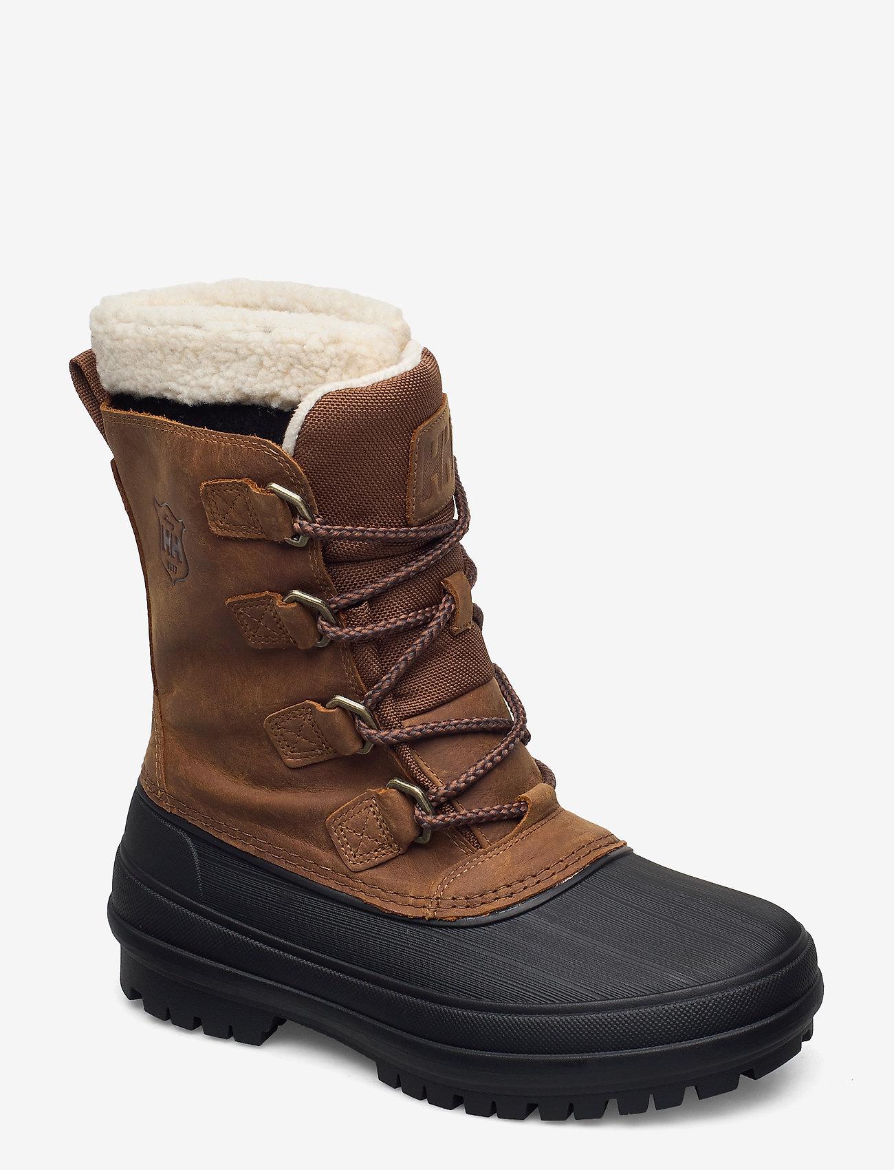 Helly Hansen - W VARANGER PRIMALOFT - flat ankle boots - 741 bistre / black - 0