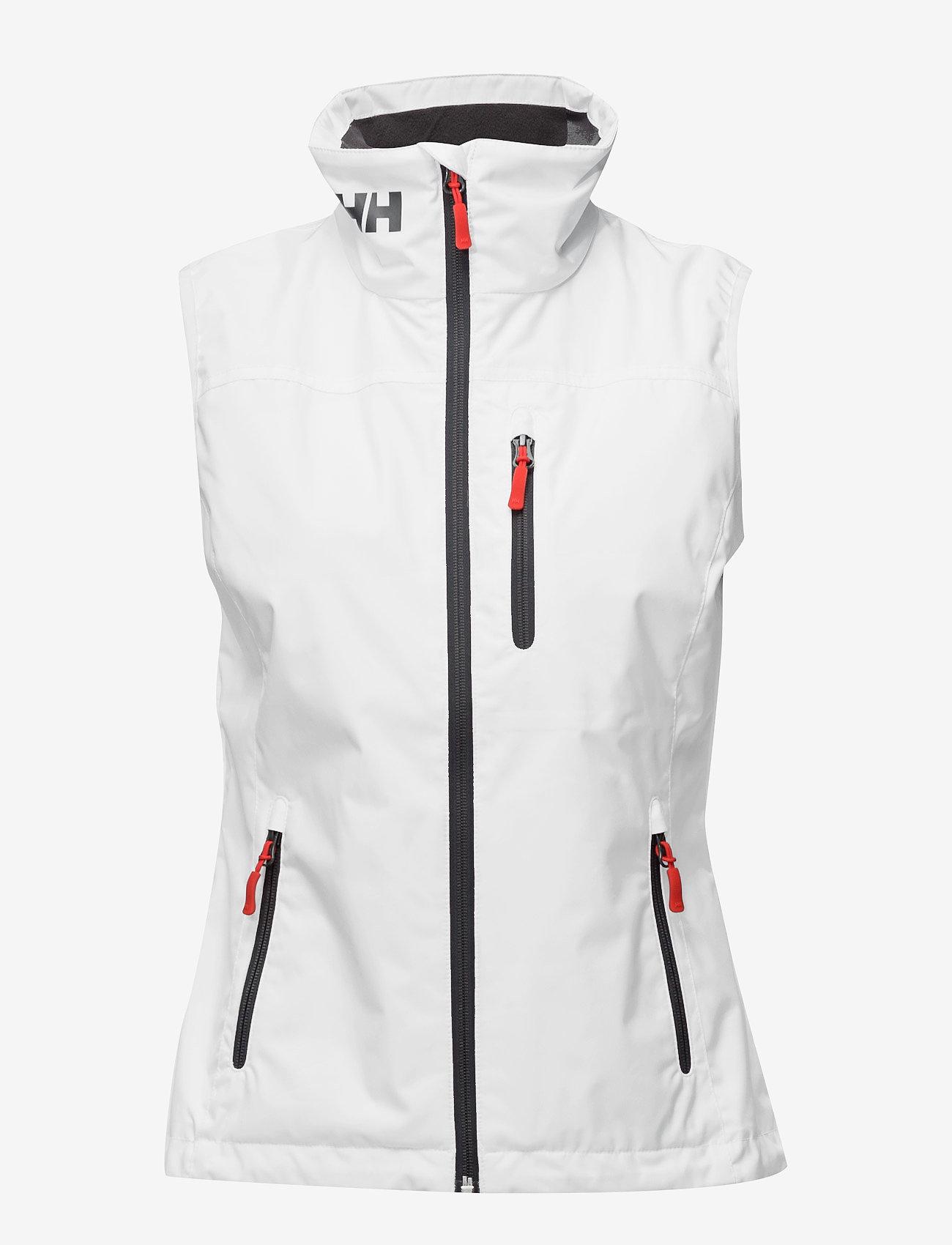 Helly Hansen - W CREW VEST - puffer vests - white - 0