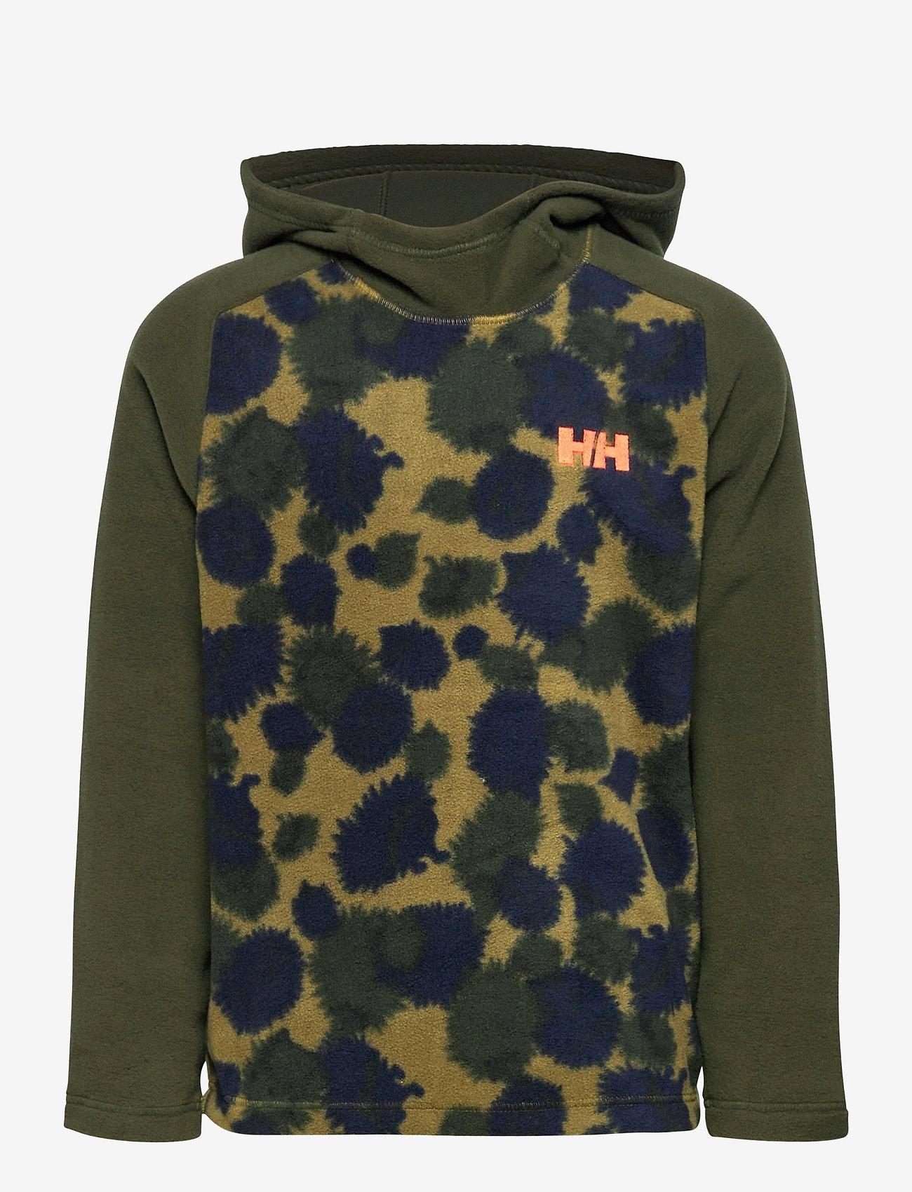 Helly Hansen - K DAYBREAKER HOODIE - fleecetøj - olive aop - 0