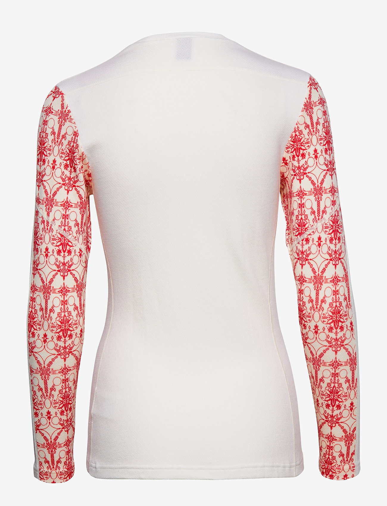 Helly Hansen - W HH LIFA MERINO GRAPHIC CREW - base layer tops - flag red / frost print - 1