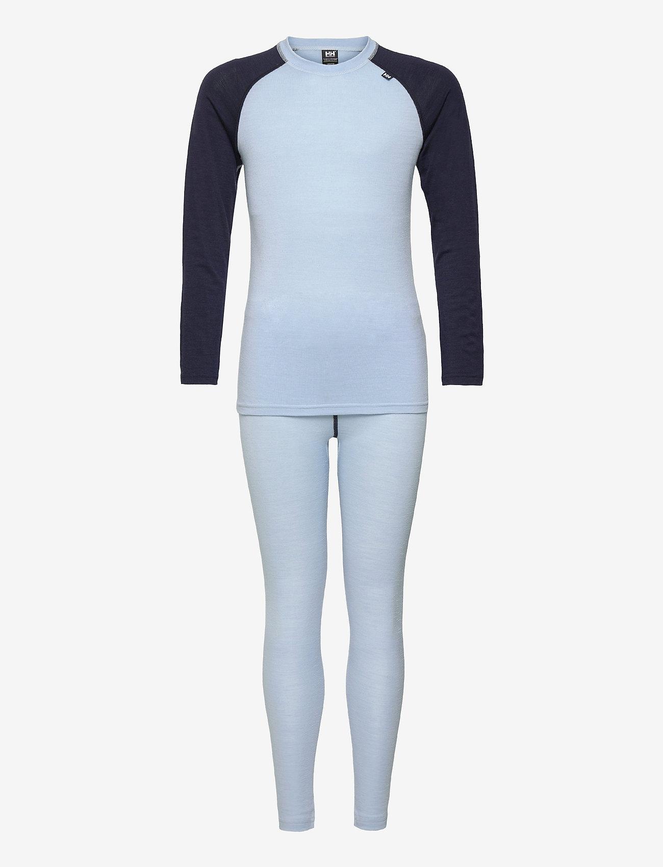 Helly Hansen - JR HH MERINO MID SET - ondergoedsets - ice blue - 0