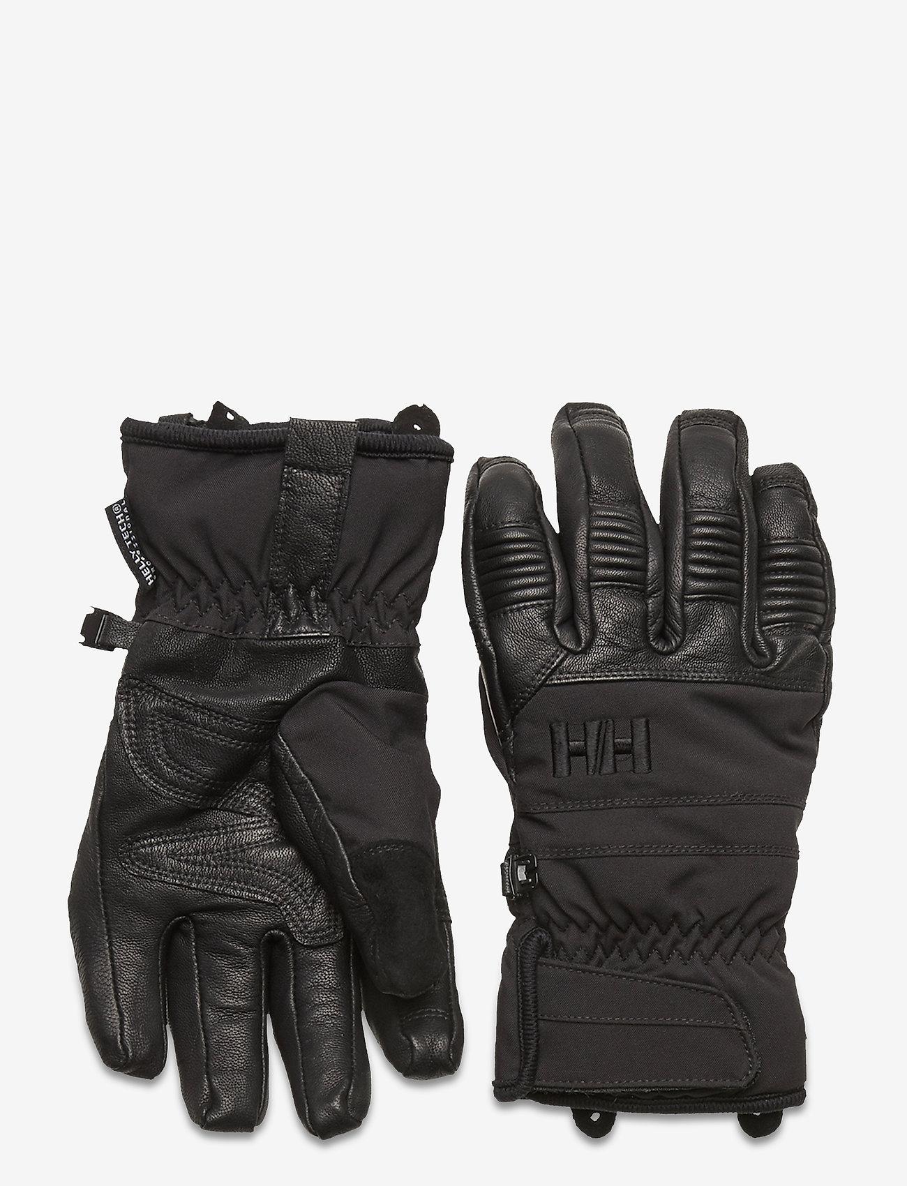 Helly Hansen - W LEATHER MIX GLOVE - accessoires - 990 black - 0