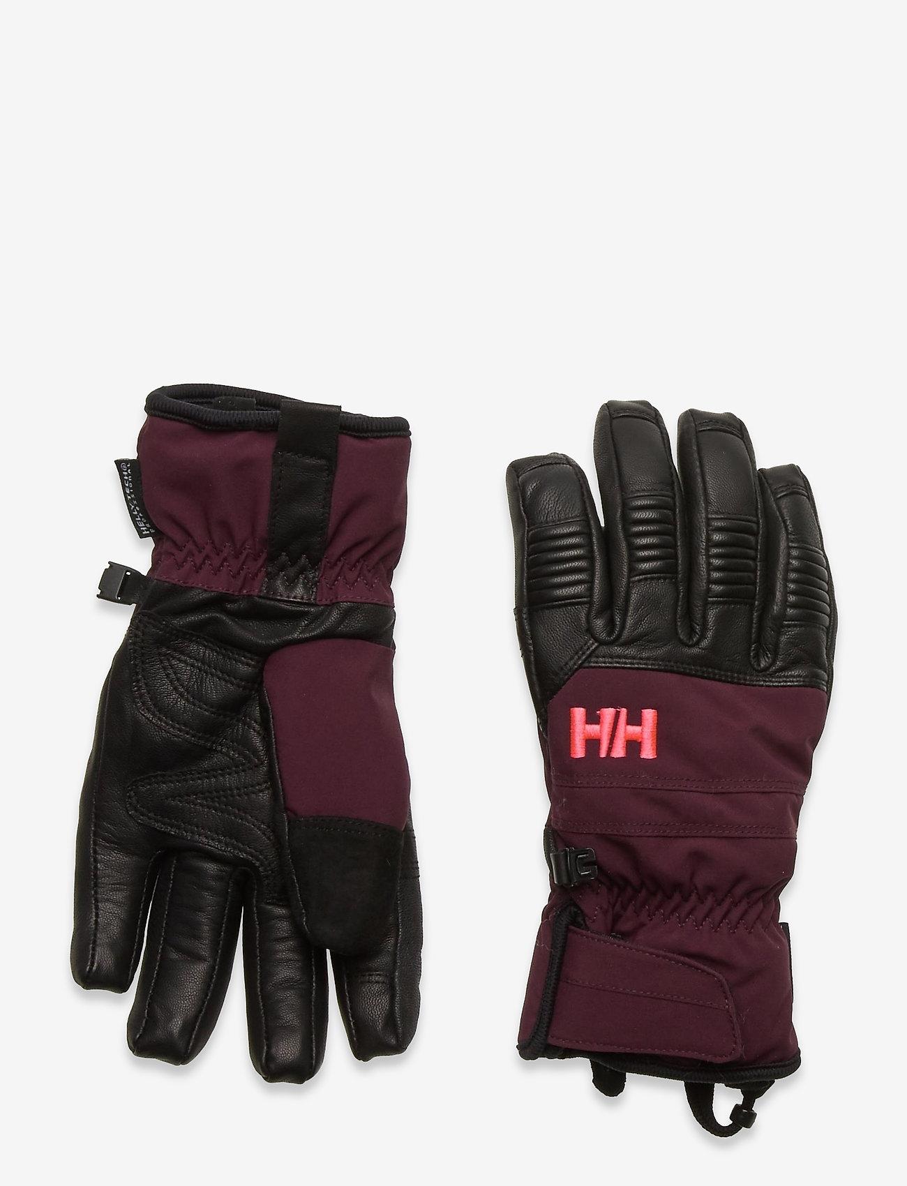 Helly Hansen - W LEATHER MIX GLOVE - accessoires - wild rose - 0