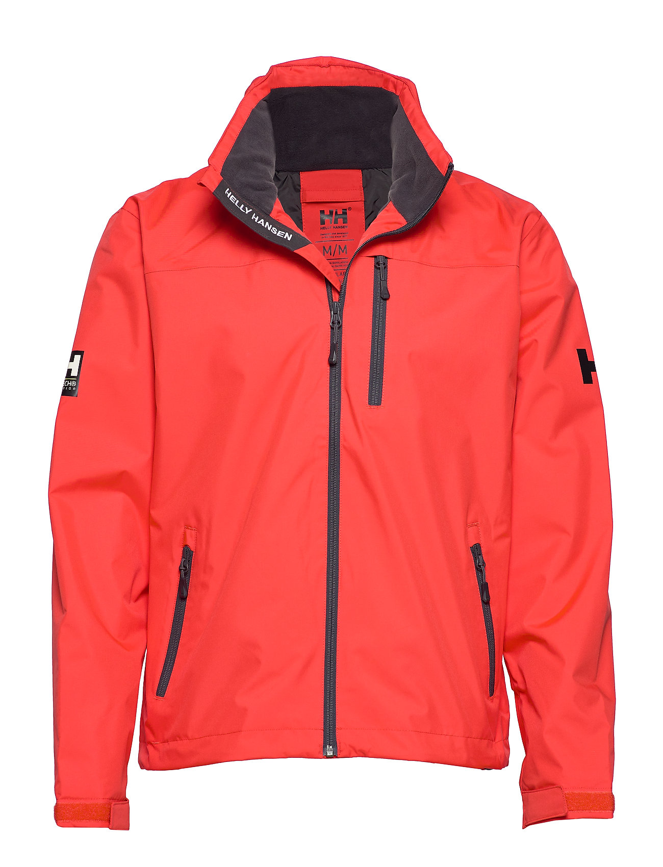 Helly Hansen CREW HOODED MIDLAYER JACKET - ALERT RED