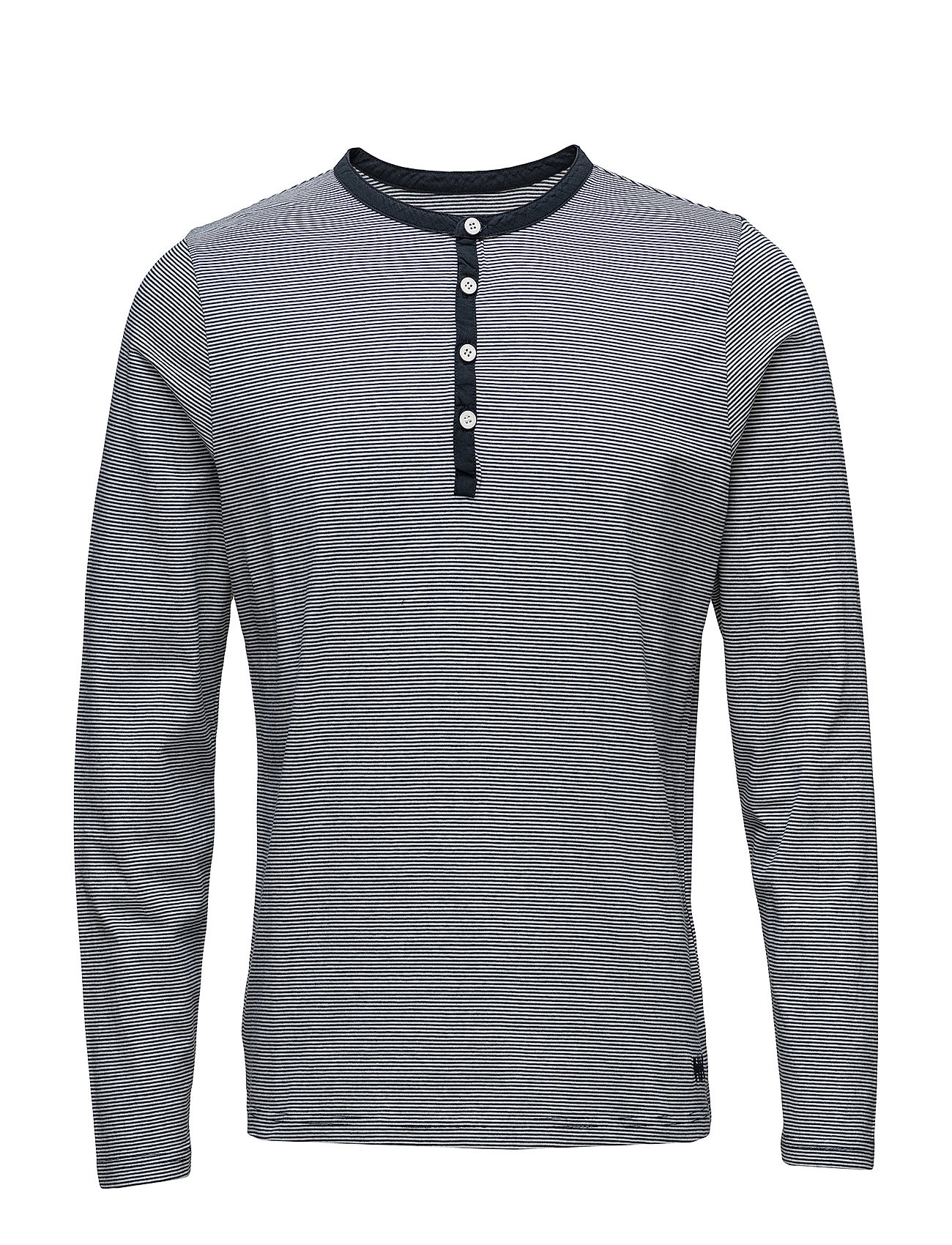 Helly Hansen FJORD HENLEY - 596 NAVY MICRO STRIPES