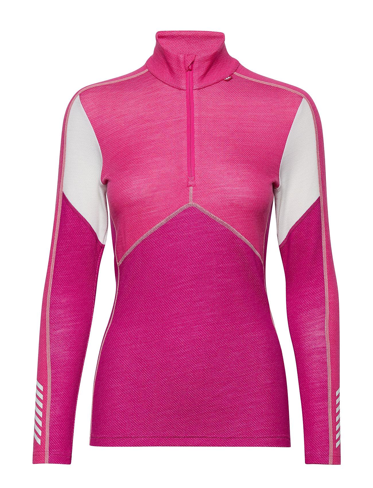 HELLY HANSEN W Hh Lifa Merino 1/2 Zip Base Layer Tops Pink HELLY HANSEN