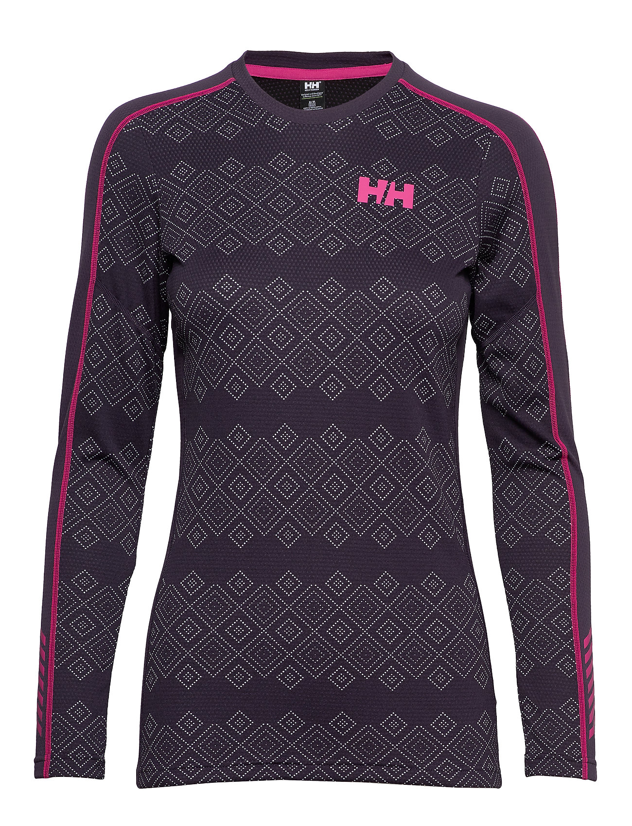 Helly Hansen W HH LIFA ACTIVE GRAPHIC CREW - NIGHTSHADE DOTTED PRINT