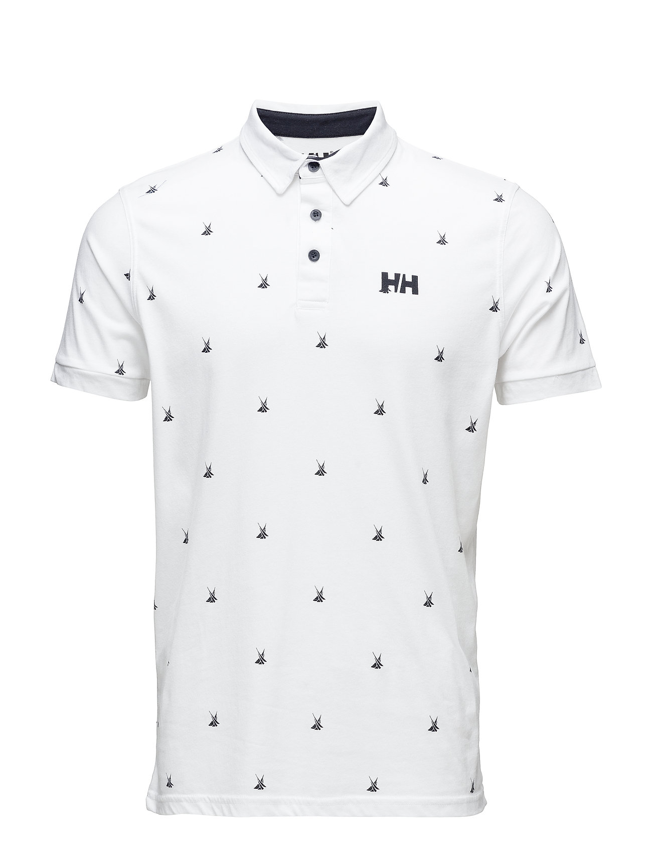 Helly Hansen FJORD POLO - 004 WHITE PRINT