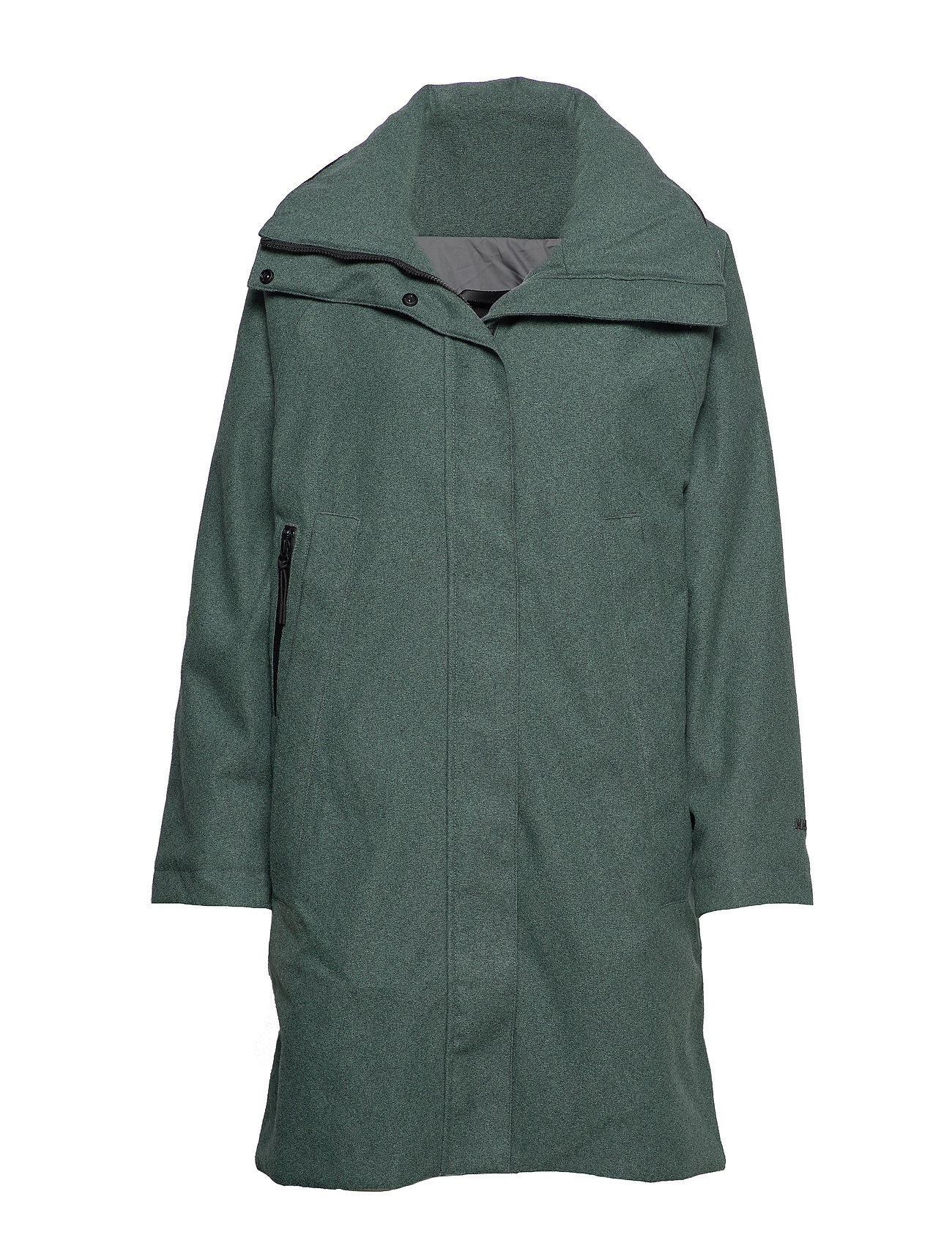 Helly Hansen W BELOVED WOOL COAT - JADE MELANGE