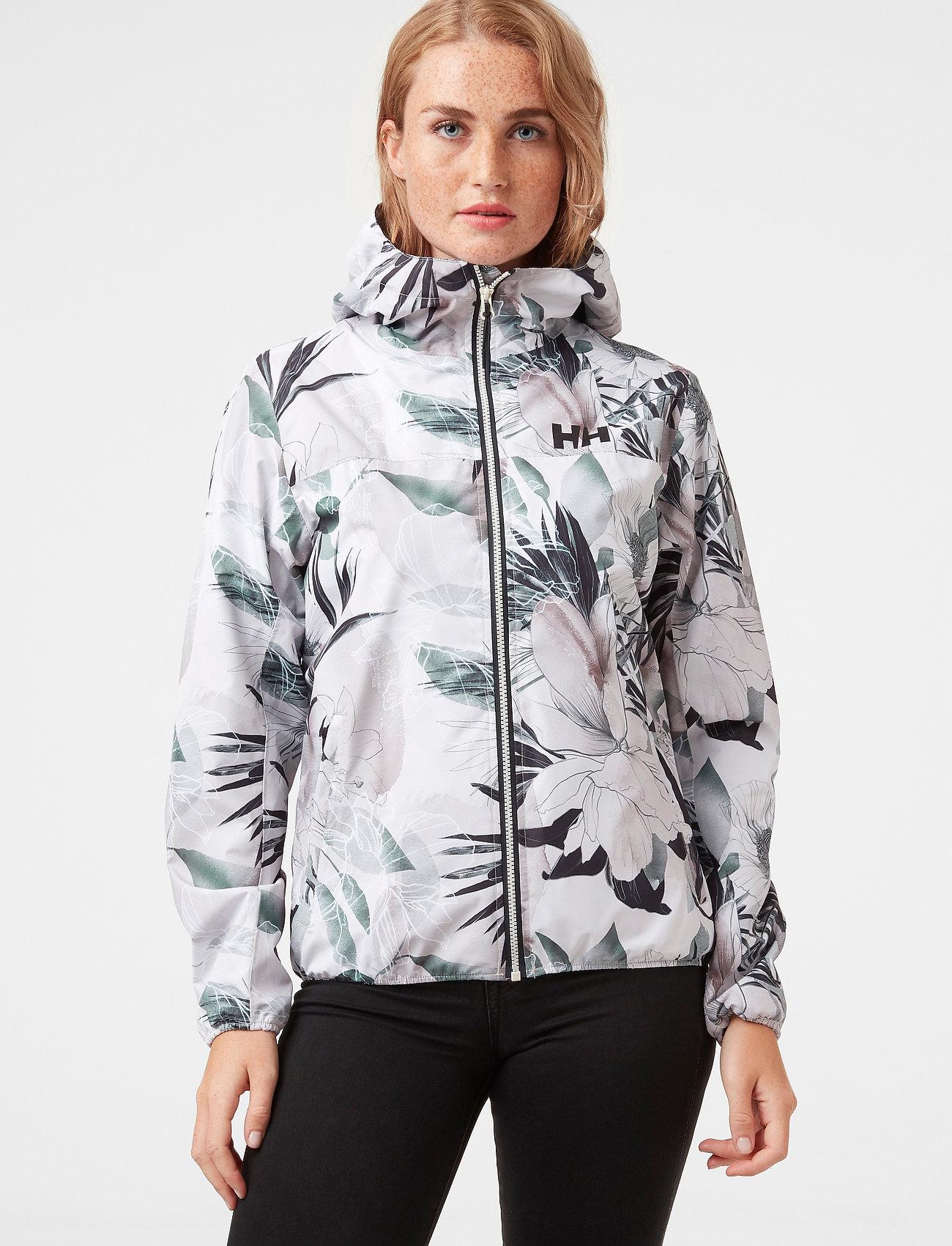 Helly Hansen - W BELFAST II PACKABLE JACKET - manteaux de pluie - cream esra print - 0