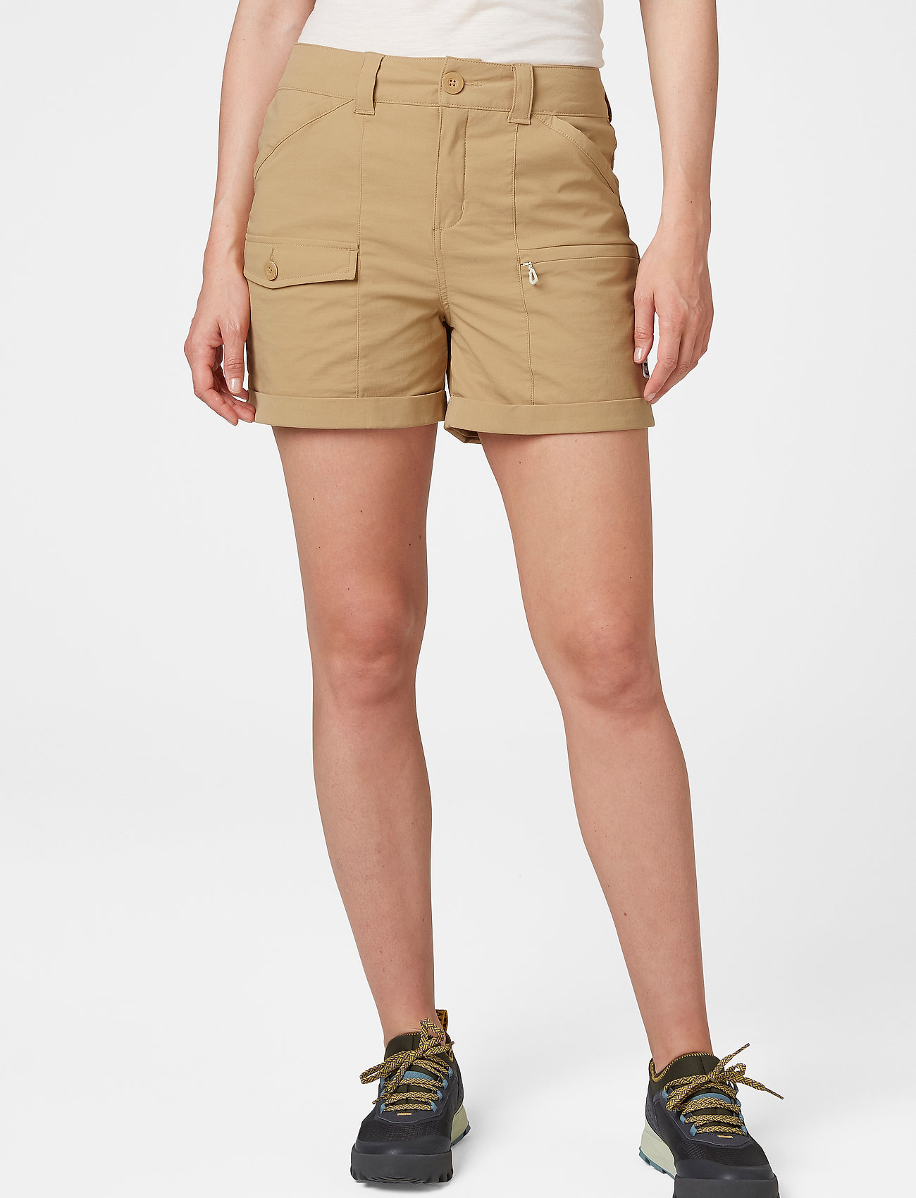 Helly Hansen - W MARIDALEN SHORTS - wandel korte broek - iced coffee - 0
