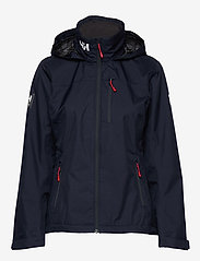 Helly Hansen - W CREW HOODED JACKET - ulkoilu- & sadetakit - 598 navy - 2