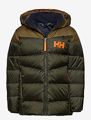Helly Hansen - JR ISFJORD DOWN MIX JACKET - dunjackor & fodrade jackor - pine green - 0