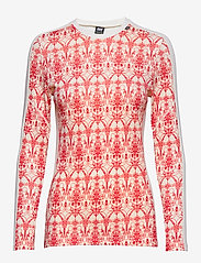Helly Hansen - W HH LIFA MERINO GRAPHIC CREW - base layer tops - flag red / frost print - 0
