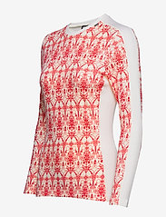 Helly Hansen - W HH LIFA MERINO GRAPHIC CREW - base layer tops - flag red / frost print - 2
