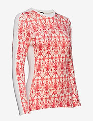 Helly Hansen - W HH LIFA MERINO GRAPHIC CREW - base layer tops - flag red / frost print - 3