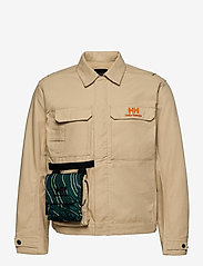 Helly Hansen - HERITAGE CARPENTER JACKET - overshirts - heritage khaki - 0