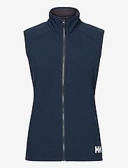 Helly Hansen - W PARAMOUNT SOFTSHELL VEST - puffer vests - 597 navy - 1