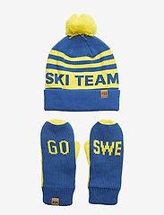 Helly Hansen - GOING FOR GOLD SET - mutsen - swedish flag blue - 0