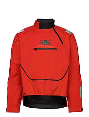 HP FOIL SMOCK TOP - ALERT RED