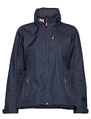 W CREW HOODED MIDLAYER JACKET - NAVY