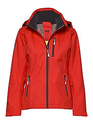 W CREW HOODED JACKET - ALERT RED
