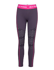 W HH LIFA ACTIVE GRAPHIC PANT - NIGHTSHADE DOTTED PRINT