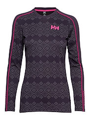 W HH LIFA ACTIVE GRAPHIC CREW - NIGHTSHADE DOTTED PRINT