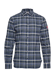 HH NORSE FLANNEL SHIRT - NAVY