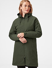 Helly Hansen - W MONO MATERIAL RAINCOAT - manteaux de pluie - forest night - 0