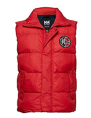 1877 PUFFY VEST - FLAG RED