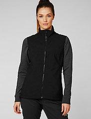 Helly Hansen - W PARAMOUNT SOFTSHELL VEST - puffer vests - 990 black - 0