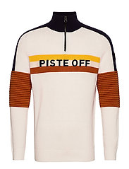 TRICOLORE KNITTED SWEATER - WHITE