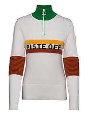 W TRICOLORE KNITTED SWEATER - WHITE